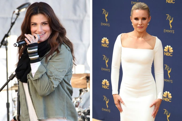 Idina Menzel and Kristen Bell (Photo credit: © Sipa USA / © PictureGroup)
