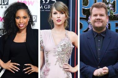 Jennifer Hudson, Taylor Swift and James Corden