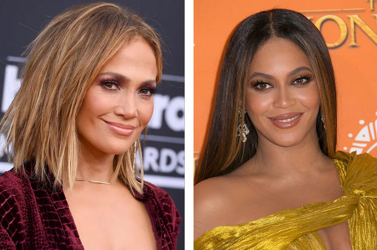Jennifer Lopez and Beyoncé (Photo credit: Jordan Strauss/Joel C Ryan/Invision/AP, File)