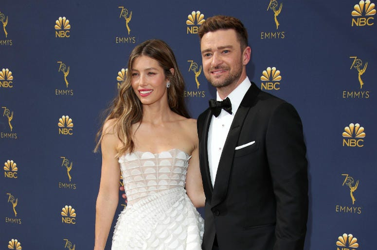 Jessica Biel and Justin Timberlake - © Dan MacMedan-USA TODAY