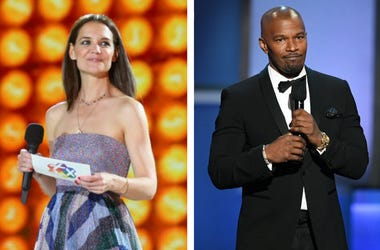 Katie Holmes and Jamie Foxx (Photo credit: Thomas Niedermueller/Kevin Winter/Getty Images)