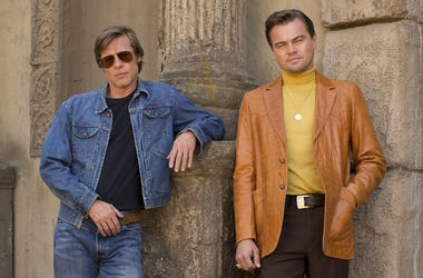 "Brad Pitt and Leonardo DiCaprio star in Columbia Pictures ""Once Upon a Time in Hollywood"" (Photo credit: ANDREW COOPER; © 2018 CTMG, Inc. All Rights Reserved)"