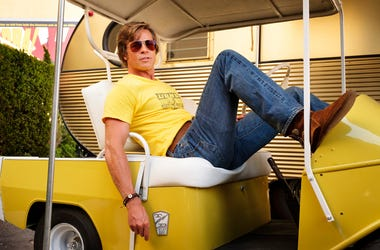 "Brad Pitt in Quentin Tarantino's ""Once Upon a Time ... in Hollywood."" (Photo credit: Andrew Cooper/Sony Pictures)"