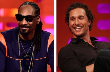 Snoop Dogg and Matthew McConaughey on The Graham Norton Show (Photo credit: PA Images/Sipa USA)
