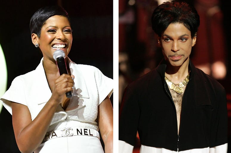 Tamron Hall and Prince (Photo credit: Paras Griffin/Kevin Winter/Getty Images)