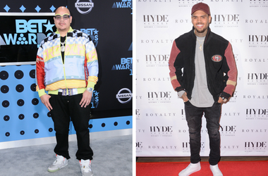 "25 June 2017 - Los Angeles, California - Fat Joe. 2017 BET Awards held at the Microsoft Square in Los Angeles. / 15 December - Los Angeles, Ca - Chris Brown. Arrivals for the Chris Brown Listening Party For ""Royalty"" held at Hyde Sunset Kitchen + Cocktail"