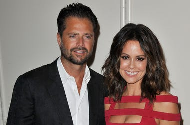 (L-R) David Charvet and Brooke Burke-Charvet arrives at the 2015 Smile Gala by Operation Smile held at the The Beverly Wilshire in Beverly Hills, CA on Friday, October 2, 2015. (Photo By Sthanlee B. Mirador) *** Please Use Credit from Credit Field ***