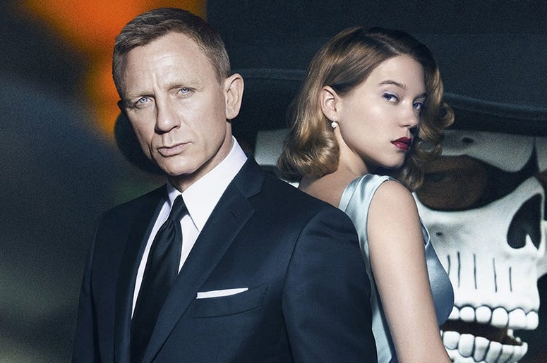 "Daniel Craig as James Bond and Léa Seydoux as Madeleine Swann on ""Spectre"""