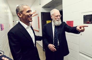 David Letterman and President Barack Obama