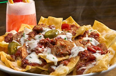 Loaded Pasta Chips