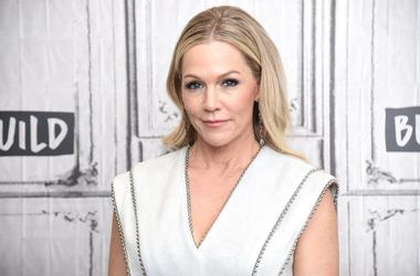 "NEW YORK, NEW YORK - AUGUST 05: Jennie Garth visits the Build Series to discuss the Fox series ""BH90210"" at Build Studio on August 05, 2019 in New York City. (Photo by Gary Gershoff/Getty Images)"