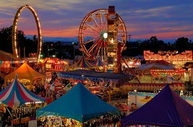 San Mateo County Fair at night (Photo credit: sanmateocountyfair.com)