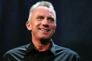 "14 June 2010- Los Angeles, CA - Retired Hall of Fame NFL player Joe Montana speaks about EA Sport's football video game ""Madden NFL 11"" during the Electronic Arts E3 2010 Press Conference held at the Orpheum Theatre in Los Angeles, California. Photo Credi"