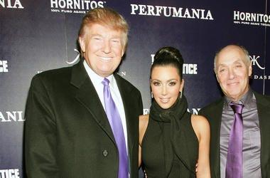 NEW YORK - NOVEMBER 10: (L-R) Donald Trump, Kim Kardashian, and Perfumania's Steven Nussdorf celebrates Kim Kardashian's appearance on 'The Apprentice' at Provacateur on November 10, 2010 in New York, New York. (Photo by John W. Ferguson/Getty Images)