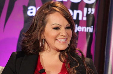 """PASADENA, CA - JANUARY 13: Singer Jenni Rivera speaks during the """"I Love Jenni"""" lunch session during the NBC Universal portion of the 2011 Winter TCA press tour held at the Langham Hotel on January 13, 2011 in Pasadena, California. (Photo by Frederick M."""