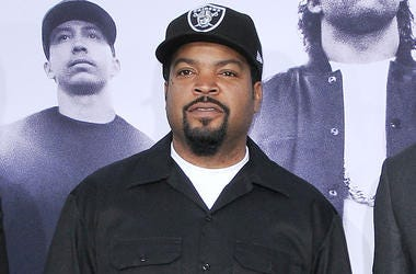 """Ice Cube arrives at the """"Straight Outta Compton"""" Los Angeles Premiere held at the Microsoft Theater LA Live in Los Angeles, CA on Monday, August 10, 2015. (Photo By Sthanlee B. Mirador)"""