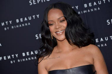 4/5/2018 - Rihanna attending the Fenty Beauty by Rihanna event in Milan (Photo by PA Images/Sipa USA) *** US Rights Only ***