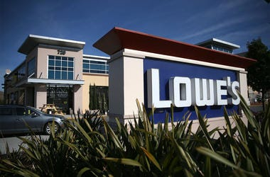 SOUTH SAN FRANCISCO, CA - NOVEMBER 18: A sign is posted in front of a Lowe's home improvement store on November 18, 2015 in South San Francisco, California. Lowe's reported better-than-expected third-quarter earnings with profits of $736 million, or 80 ce