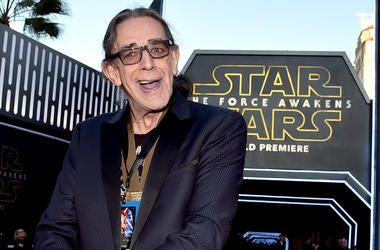 "HOLLYWOOD, CA - DECEMBER 14: Actor Peter Mayhew attends the World Premiere of ""Star Wars: The Force Awakens"" at the Dolby, El Capitan, and TCL Theatres on December 14, 2015 in Hollywood, California. (Photo by Alberto E. Rodriguez/Getty Images for Disney)"