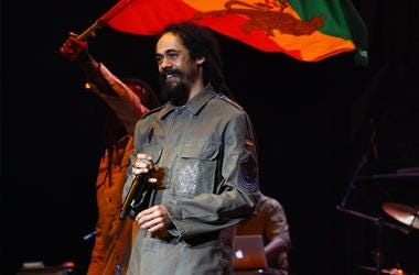 WANTAGH, NY - JULY 19: Musician Damian Marley performs during the 2009 Rock the Bells concert at the Nikon at Jones Beach Theater on July 19, 2009 in Wantagh, New York. (Photo by Astrid Stawiarz/Getty Images)