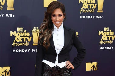 In this June 16, 2018 file photo, Farrah Abraham arrives at the MTV Movie and TV Awards in Santa Monica, Calif. Los Angeles prosecutors have charged Abraham with two misdemeanor charges over a scuffle with a Beverly Hills hotel security guard last month.