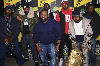 BROOKLYN, NY - JANUARY 18: (L-R) Masta Killa, Ghostface Killah, RZA, Method Man, GZA, (front) Raekwon and Cappadonna of Wu Tang Clan attends the Mtn Dew ICE launch event on January 18, 2018 in Brooklyn, New York. (Photo by Dimitrios Kambouris/Getty Images