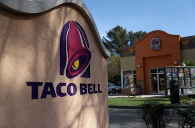 NOVATO, CA - FEBRUARY 22: A sign is posted in front of a Taco Bell restaurant on February 22, 2018 in Novato, California. Taco Bell has become the fourth-largest domestic restaurant brand by edging out Burger King. Taco Bell sits behind the top three rest