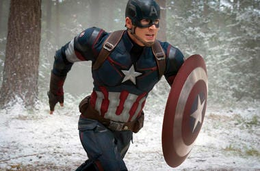 Chris Evans as Captain America/Steve Rogers