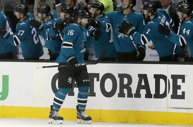 Game 3 of an NHL hockey first-round playoff series Sharks vs Ducks.