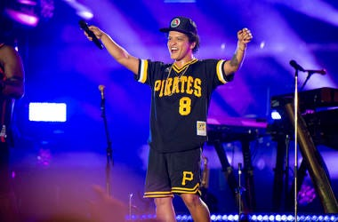 In this May 27, 2018 file photo, Bruno Mars performs at the Bottle Rock Napa Valley Music Festival at Napa Valley Expo in Napa, Calif. Cardi B may have backed out of the Bruno Mars tour, but he's found four other acts to hit the road with him. Mars announ