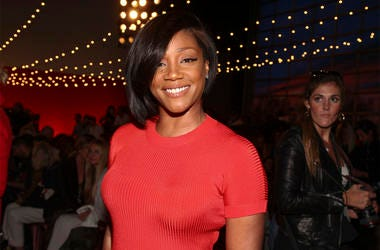 Tiffany Haddish attends the NYFW Spring/Summer 2019 Brandon Maxwell fashion show at Classic Car Club Manhattan on Saturday, Sept. 8, 2018, in New York. (Photo by Andy Kropa/Invision/AP)