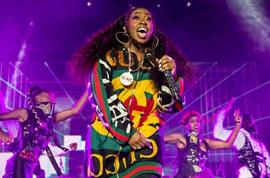 In this July 7, 2018 file photo, Missy Elliott performs at the 2018 Essence Festival in New Orleans. Elliott, one of rap's greatest voices and also a songwriter and producer who has crafted songs for Beyonce and Whitney Houston, is one of the nominees for