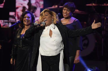 """Patti LaBelle performs at the """"Aretha! A Grammy Celebration For The Queen Of Soul"""" event at the Shrine Auditorium on Sunday, January 13, 2019, in Los Angeles. The special is set to air on March 10, 2019. (Photo by Richard Shotwell/Invision/AP)"""
