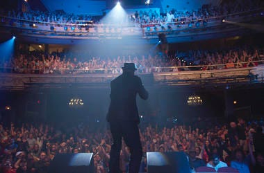 "This image released by the Tribeca Film Festival shows a scene from Roger Ross Williams' ""The Apollo,"" which will kick off the annual festival on April 24. (Tribeca Film Festival via AP)"