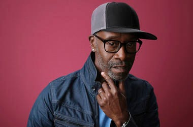 "In this Jan. 31, 2019, file photo Don Cheadle, a cast member in the Showtime series ""Black Monday,"" poses for a portrait during the 2019 Winter Television Critics Association Press Tour in Pasadena, Calif. On Saturday, Feb. 16, Cheadle delivered some poli"