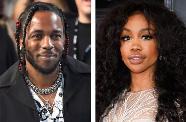 "This combination photo shows musician Kendrick Lamar, left, and Solana Rowe, better known as SZA, who, along with Mark Spears and Anthony Tiffith, were nominated for an Oscar for best original song for ""All the Stars,"" from the film ""Black Panther."" Alexa"