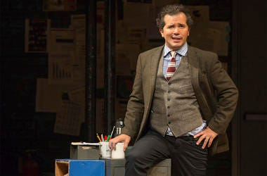 """This image released by Polk & Co. shows John Leguizamo during a performance of his one-man show """"Latin History for Morons,"""" which will kick off a 12-state U.S. tour with a two-night stand at the Apollo Theater in New York starting June 20. (Matthew Murphy"""