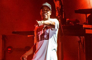 In this Oct. 13, 2017, file photo, Jay-Z performs at the Austin City Limits Music Festival in Austin, Texas. (Amy Harris/Invision/AP, File)