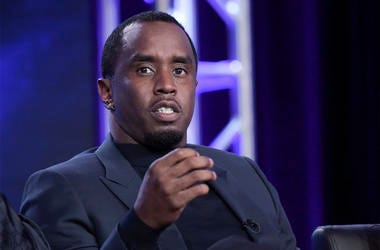 """This Jan. 4, 2018 file photo shows Sean Combs participating in """"The Four"""" panel during the FOX Television Critics Association Winter Press Tour in Pasadena, California. (Photo by Richard Shotwell/Invision/AP, File)"""