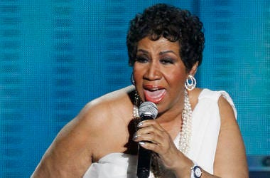 "In this Tuesday, May 17, 2011 file photo, Aretha Franklin performs during a star-studded double-taping of ""Surprise Oprah! A Farewell Spectacular,"" in Chicago. (AP Photo/Charles Rex Arbogast, File)"