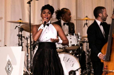 Janelle Monae performs at the Ralph Lauren show during New York Fashion Week in New York, Saturday, Sept. 7, 2019. (AP Photo/Jeenah Moon)