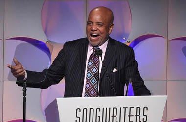 In this June 15, 2017, file photo, music mogul Berry Gordy accepts his award at the 48th Annual Songwriters Hall of Fame Induction and Awards Gala at the New York Marriott Marquis Hotel, in New York. (Photo by Evan Agostini/Invision/AP, File)