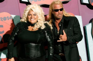 In this June 4, 2014 file photo, Beth Chapman, left, and Duane Chapman arrive at the CMT Music Awards at Bridgestone Arena, in Nashville, Tenn. (Photo by Wade Payne/Invision/AP, File)