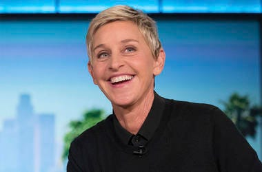 "In this Oct. 13, 2016 file photo, Ellen DeGeneres appears during a commercial break at a taping of ""The Ellen Show"" in Burbank, California. (AP Photo/Andrew Harnik, File)"