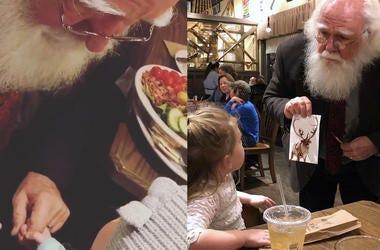 Child Finds Santa Reindeer (Photo credit: Radio.com)