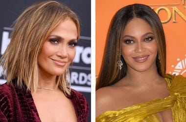 Jennifer Lopez and Beyoncé (Photo credit: Jordan Strauss/Joel C Ryan/Invision/AP, File)