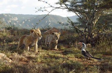 "John Oliver, JD McCrary, Shahadi Wright Joseph in Disney's ""The Lion King"" (Photo credit: © 2019 Disney Enterprises)"