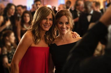 "Jennifer Aniston, Reese Witherspoon in AppleTV's ""The Morning Show"" (Photo credit: Apple TV)"