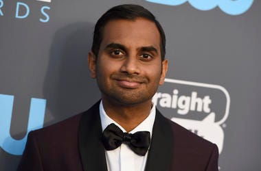 "FILE - In this Jan. 11, 2018 file photo, Aziz Ansari arrives at the 23rd annual Critics' Choice Awards at the Barker Hangar in Santa Monica, Calif. Netflix is standing by ""Master of None"" and Ansari despite a sexual-misconduct allegation against him earli"