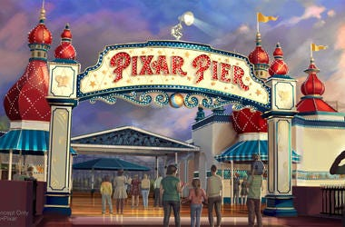 PIXAR PIER MARQUEE AT DISNEY CALIFORNIA ADVENTURE